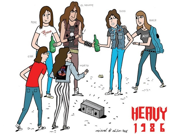 Heavy 1986 personajes
